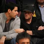 Tom Brady watches the Los Angeles Lakers Vs The Boston Celtics at the Staples Center in Los Angeles, CA 108675