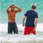 Connor Cruise on the beach in Miami for Tom Cruise's 49th birthday 89056