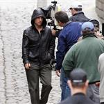 Tom Cruise shoots Mission Impossible 4 in Prague looking hot in leather jacket 69957