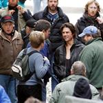 Tom Cruise shoots Mission Impossible 4 in Prague looking hot in leather jacket 69960