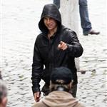 Tom Cruise shoots Mission Impossible 4 in Prague looking hot in leather jacket 69963