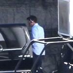 Tom Cruise leaves the Oblivion movie location in Mammoth Lakes, CA 120135