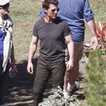 Tom Cruise on the set of Oblivion in June Lake, California  120260