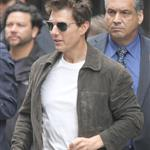 Tom Cruise on the set of Oblivion in New York 117613