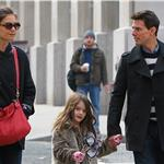 Tom Cruise with Katie Holmes and Suri in New York 100750