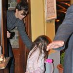 Tom Cruise in Prague with Katie Holmes and Suri while scouting for MI4 69344