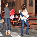 Tom Cruise in Prague with Katie Holmes and Suri while scouting for MI4 69346