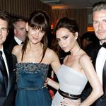 Tom Cruise and Katie Holmes with Victoria and David Beckham at the 2012 Vanity Fair Oscar party 107512