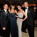 Tom Cruise and Katie Holmes with Victoria and David Beckham at the 2012 Vanity Fair Oscar party 107513