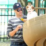 Tom Brady and Gisele Bundchen at a Boston park with their son 116279