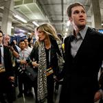 Tom Brady of the New England Patriots gets a hug from his wife Gisele Bundchen after losing to the New York Giants 104830