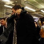 Tom Brady of the New England Patriots gets a hug from his wife Gisele Bundchen after losing to the New York Giants 104832