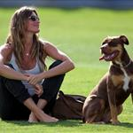 Gisele Bundchen and the kids visit Tom Brady at training camp  122730
