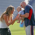 Gisele Bundchen and the kids visit Tom Brady at training camp  122731