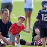 Gisele Bundchen and the kids visit Tom Brady at training camp  122743