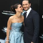 Tom Hardy and Charlotte Riley at the New York premiere if The Dark Knight Rises 120815