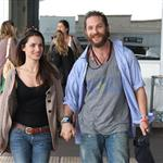 Tom Hardy and Charlotte Riley arrive in Nice 115521