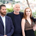 Tom Hardy and Jessica Chastain at the Cannes photocall for Lawless 115530
