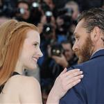 Tom Hardy and Jessica Chastain at the Cannes photocall for Lawless 115532