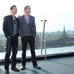 Tom Hiddleston and Chris Hemsworth at the photo call for The Avengers in Moscow, Russia 111541