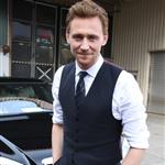 Tom Hiddleston leaving TV Total studios after promoting The Avengers in Cologne, Germany 112229