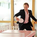 Tom Hiddleston plays table tennis at the evian 'Live young' VIP Suite at Wimbledon  119127