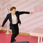 Tom Hiddleston plays table tennis at the evian 'Live young' VIP Suite at Wimbledon  119129