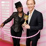 Tom Hiddleston plays table tennis at the evian 'Live young' VIP Suite at Wimbledon with Grace Jones 119136