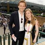 Tom Hiddleston and sister Emma attends the evian 'Live young' VIP Suite at Wimbledon 119143