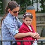 Katie Holmes and Suri Cruise at a playground in New York City  124758