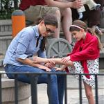 Katie Holmes and Suri Cruise at a playground in New York City  124763