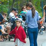 Katie Holmes and Suri Cruise at a playground in New York City  124765