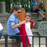 Katie Holmes and Suri Cruise at a playground in New York City  124767