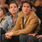 Tom Cruise and Katie Holmes attend Laker Game  57252