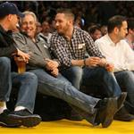 Tom Hardy Leonardo DiCaprio courtside at Laker game February 2011  78259