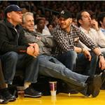 Tom Hardy Leonardo DiCaprio courtside at Laker game February 2011  78261