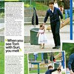 OK Magazine feature Tom Cruise Suri Cruise at LA playground  19046