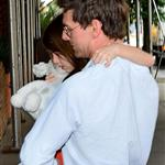 Tom Cruise and Suri Cruise seen on the Streets of Manhattan on July 17, 2012 120867