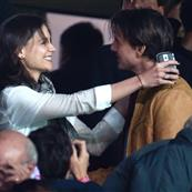 Katie Holmes at soccer game in Spain with Tom Cruise and Cameron Diaz 51969