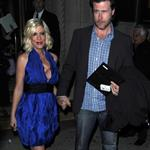 Possibly pregnant Tori Spelling promotes new season of TV show with husband and wonky tits  82652