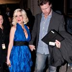 Possibly pregnant Tori Spelling promotes new season of TV show with husband and wonky tits  82655