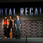 Jessica Biel, Kate Beckinsale and Colin Farrell attend the Total Recall photo call at Summer of Sony 4 Spring Edition in Cancun, Mexico 111605