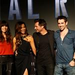 Jessica Biel, Kate Beckinsale, Len Wiseman, and Colin Farrell attend the Total Recall photo call at Summer of Sony 4 Spring Edition in Cancun, Mexico 111613