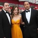 John Travolta Kelly Preston Dwayne The Rock Johnson at the Oscars 17819
