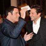 John Travolta and Bradley Cooper at the Hollywood Foreign Press Association's 2012 Installation Luncheon 123034