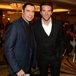 John Travolta and Bradley Cooper at the Hollywood Foreign Press Association's 2012 Installation Luncheon 123039