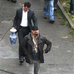 John Travolta on the Paris set of From Paris With Love with Jonathan Rhys Meyers 29284