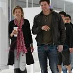 Kellan Lutz and his really bad hair with the McCord girl in Vancouver  83556