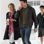 Kellan Lutz and his really bad hair with the McCord girl in Vancouver  83561