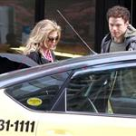 Kellan Lutz and his really bad hair with the McCord girl in Vancouver  83570